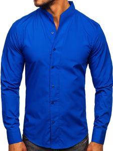 Pánská košile BOLF 5702 kobaltová