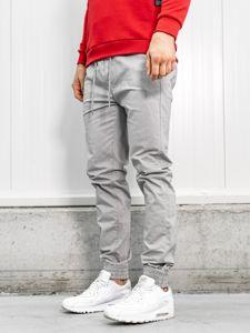 Šedé pánské jogger kalhoty Bolf KA951