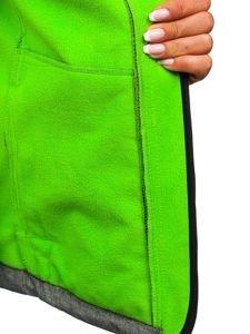 Šedo-zelená dámská přechodová softshellová bunda Bolf AB053