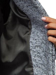 Šedý dámský kabát Bolf 6011-1