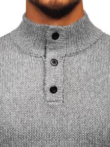 Šedý pánský svetr Bolf P086