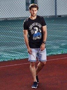 Stylizace č. 270 -hodinky, tričko s potiskem, džínové kraťasy, sportovní obuv