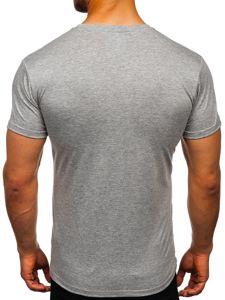 Světle šedé tričko bez potisku Bolf 2005