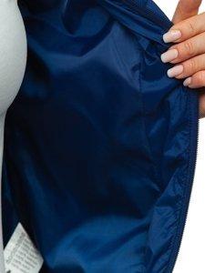 Tmavě modrá dámská prošívaná přechodová bunda Bolf B0101