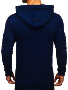 Tmavě modrá pánská mikina s kapucí Bolf 02