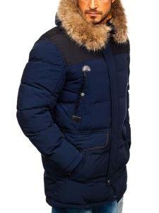 Tmavě modrá pánská zimní parka Bolf 1090