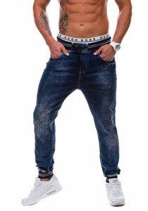 Tmavě modré pánské džínové baggy kalhoty Bolf 810-2