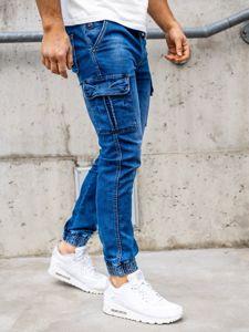 Tmavě modré pánské džínové jogger kahoty Bolf KA1311-1