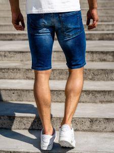 Tmavě modré pánské džínové kraťasy Bolf 3004