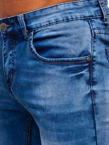 Tmavě modré pánské džíny skinny fit Bolf KX511
