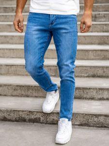 Tmavě modré pánské džíny skinny fit Bolf KX536