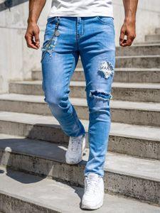 Tmavě modré pánské džíny slim fit Bolf 85003S0