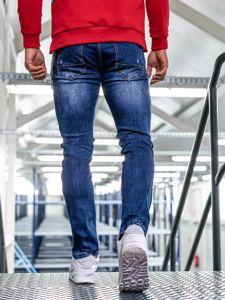 Tmavě modré pánské džíny straight leg Bolf KA1260