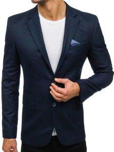 Tmavě modré pánské elegantní sako Bolf 2222