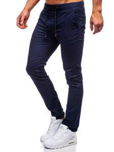 Tmavě modré pánské jogger kalhoty Bolf KA8877