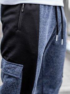 Tmavě modré pánské jogger tepláky Bolf Q3774