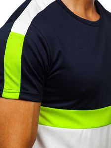 Tmavě modré pánské tričko s potiskem Bolf SS10992