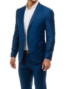 Tmavě modrý pánský oblek-3 Bolf 1000