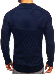 Tmavě modrý pánský svetr Bolf 319