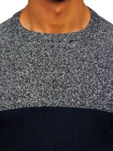 Tmavě modrý pánský svetr Bolf H1809