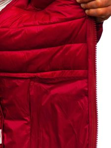 Vínová pánská prošívaná zimní bunda Bolf 1119