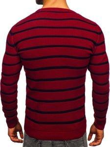 Vínový pánský svetr Bolf 4356