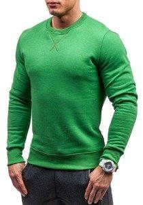 Zelená pánská mikina bez kapuce Bolf 44S