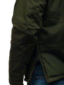 Zelená pánská zimní bunda anorak Bolf 1786