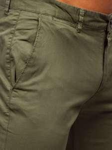Zelené pánské chino kalhoty Bolf 1146
