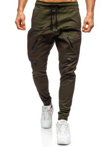 Zelené pánské jogger kalhoty Bolf 0956