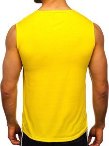 Žluté pánské tílko s potiskem Bolf KS2094