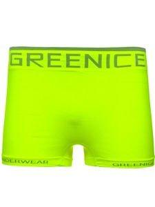 Žluto-neonové pánské boxerky Bolf PL7723